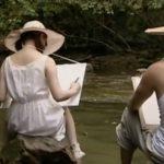 【平原あいみ・ヘンリー塚本】昭和の夏休み、妹と近所の川を写生、そのあと妹のマンコに射精